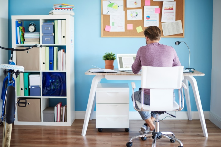 Man sitting in home office