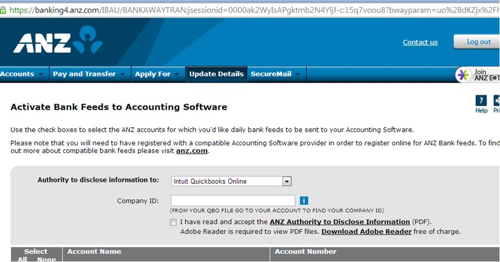 Direct bank feeds into Quickbooks Online with ANZ | QuickBooks on application for rental, application approved, application submitted, application template, application error, application to date my son, application to join motorcycle club, application cartoon, application trial, application insights, application clip art, application for employment, application to rent california, application service provider, application meaning in science, application for scholarship sample, application database diagram, application to be my boyfriend, application to join a club, application in spanish,
