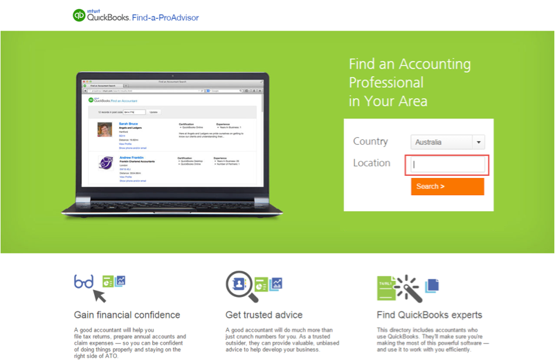 Quickbooks Online Find A ProAdvisor