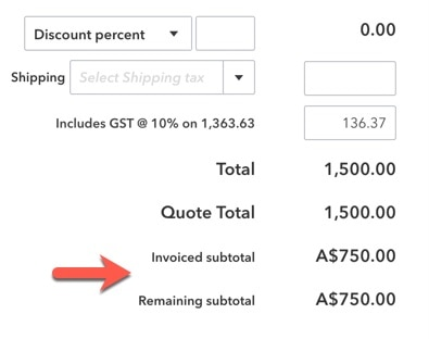Progress invoicing for QuickBooks Online