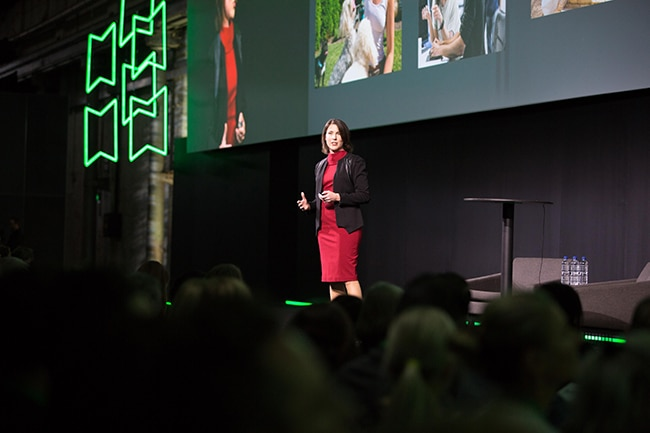 Nicolette Maury on stage at QuickBooks Connect Sydney