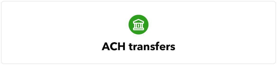 ACH transfers with bank icon