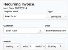 how to schedule recurring invoices quickbooks