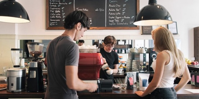 Business Transaction at a Coffee Shop