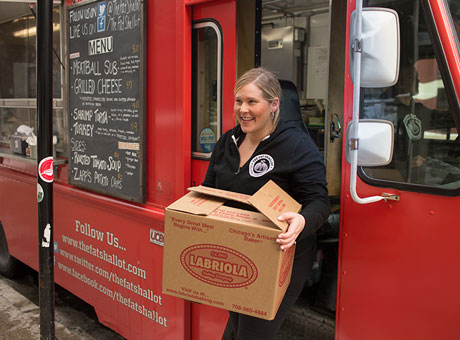 Food truck owner enjoys a quick cash conversion cycle in her business