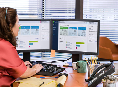 Accountant uses QuickBooks to automate her client's reports