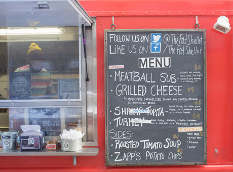 Business owner operating a food truck business may experience slow season