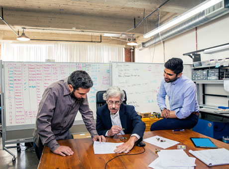 A senior working in a tech startup