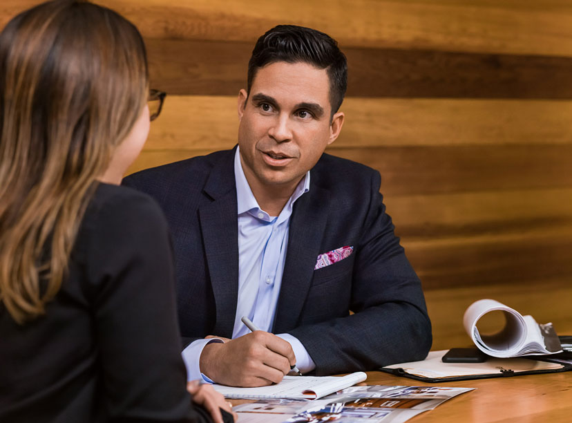 Entrepreneur interviews a candidate to take over as a CEO of his start up