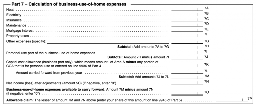 home office deductions tax form