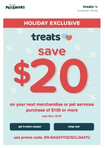 example of petsmart discount email