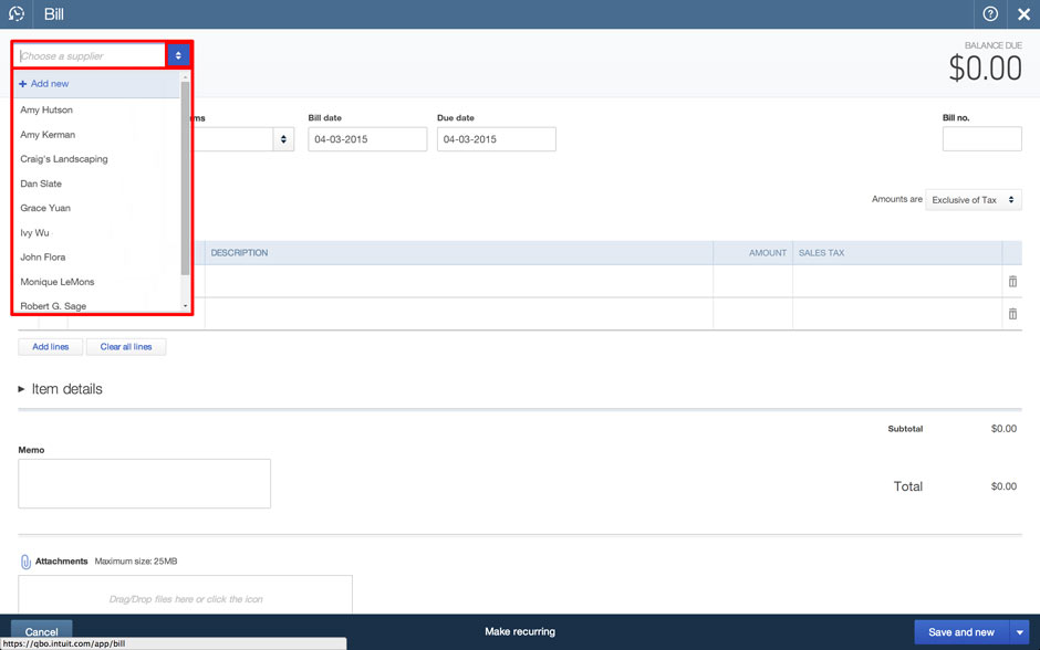 how to create a bill of sale in quickbooks