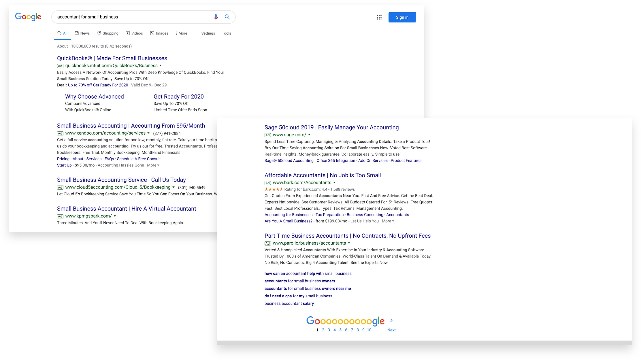 Google Ads Examples