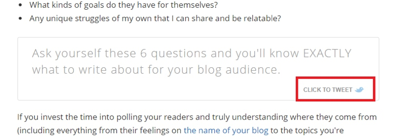 An example of blog sharing opportunities as part of word-of-mouth marketing.