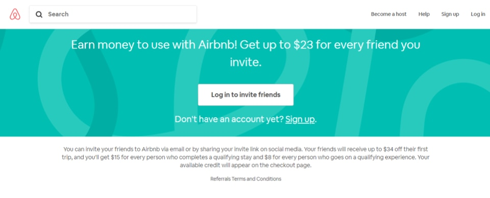 An example of word-of-mouth marketing from Airbnb.