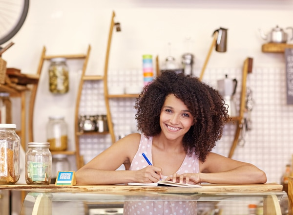 Image: Small business owner in her shop