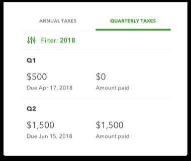 Self-Employed taxes quarterly taxes