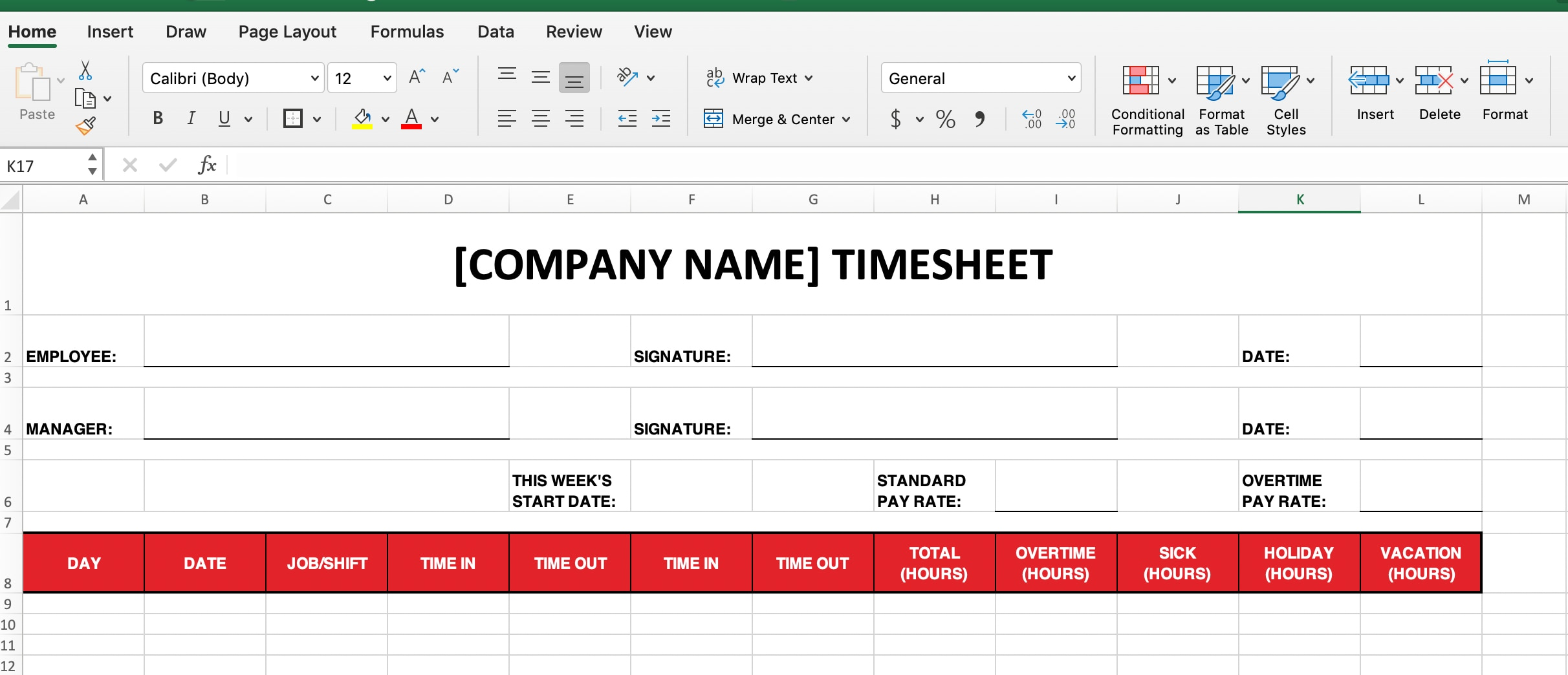 How to add timesheet labels.
