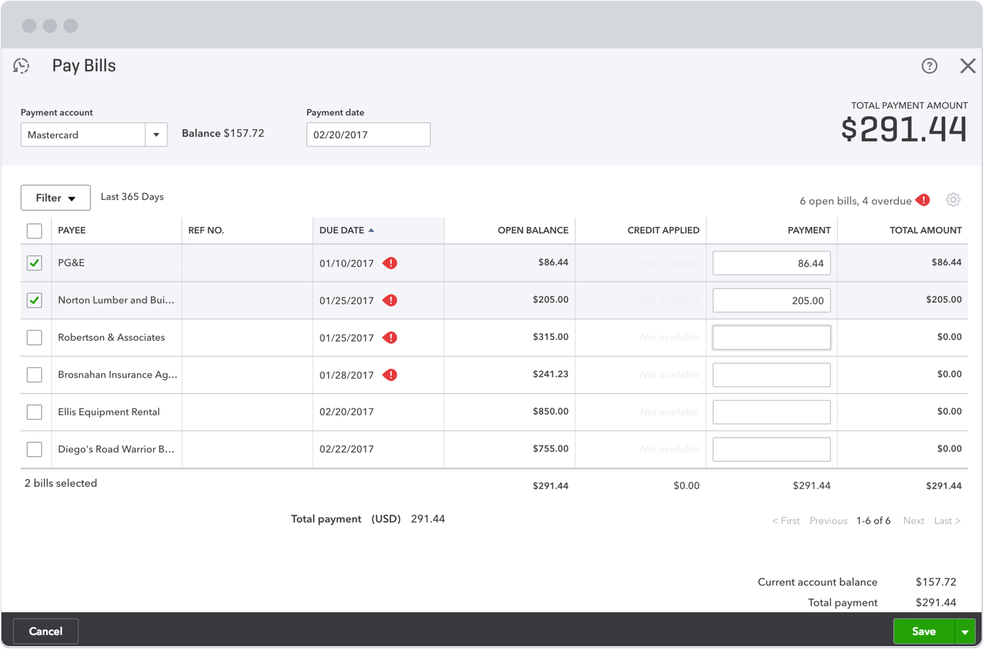 manage and pay your bills in one place with quickbooks