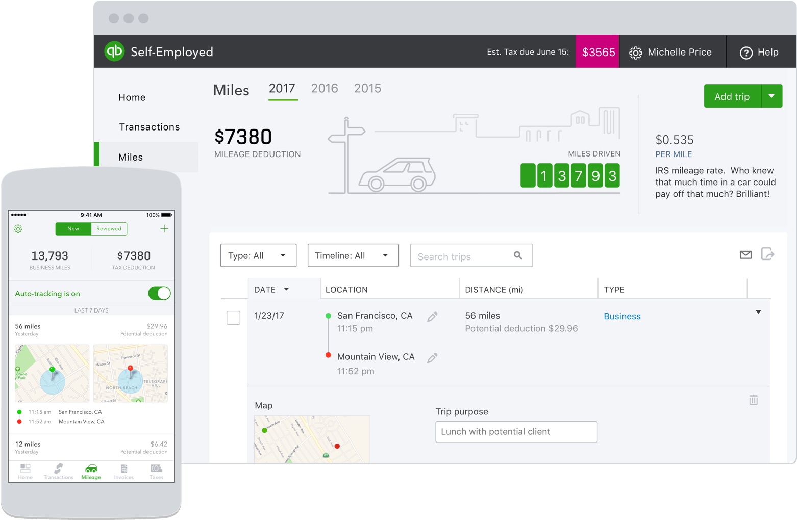 mileage tracker app mileage tracking done automatically quickbooks