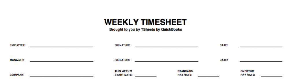 Weekly timesheet - define your date ranges and relevant labels.