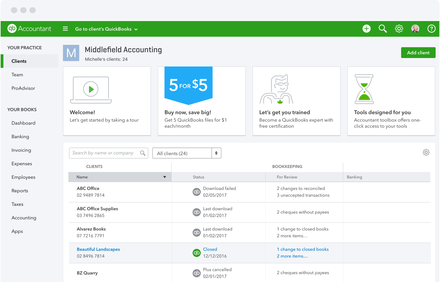 Image result for quickbooks dashboard