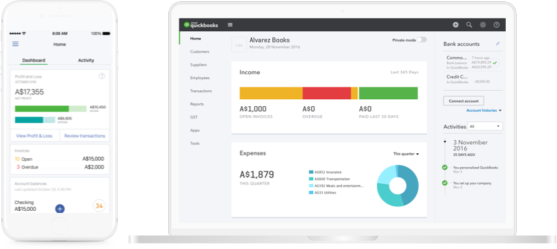 Accounting Software for Small Business   QuickBooks Australia