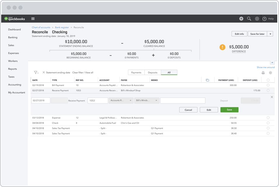 Bank Reconciliation, Easily Reconcile Accounts | QuickBooks