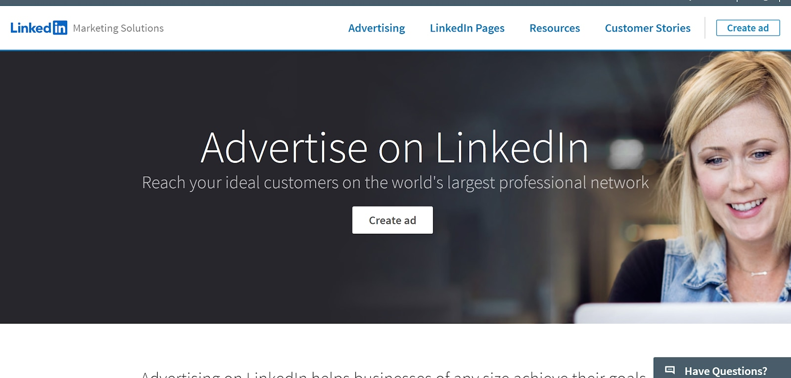 LinkedIn advertising campaign manager.