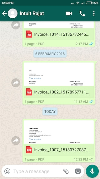 Send estimates and invoices on WhatsApp