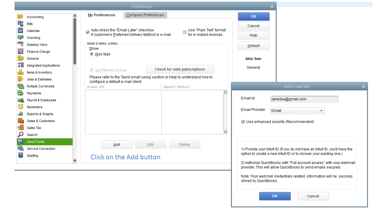 Solved: Changing outgoing Email address - QuickBooks Community