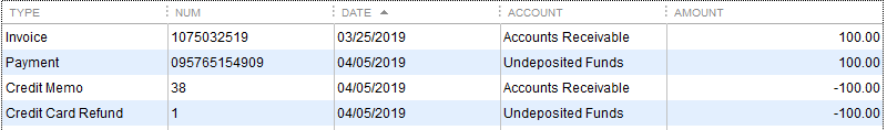 QB Desktop transactions