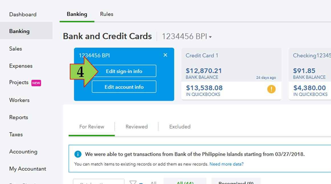 Solved: Bank Error code 103 - QuickBooks Community