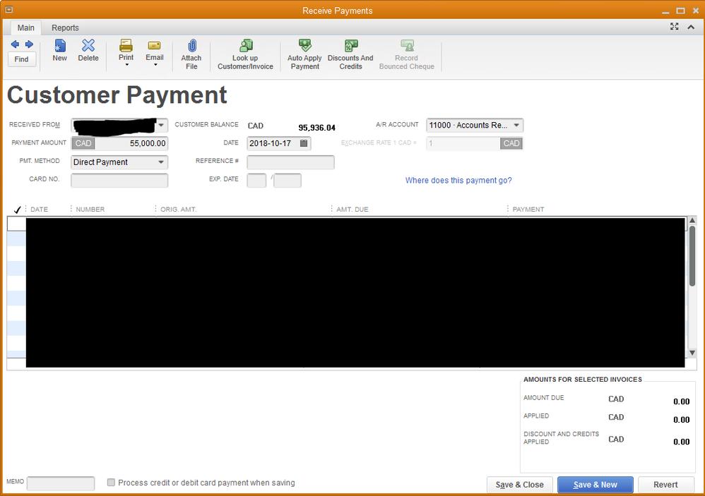 Original Payment Window
