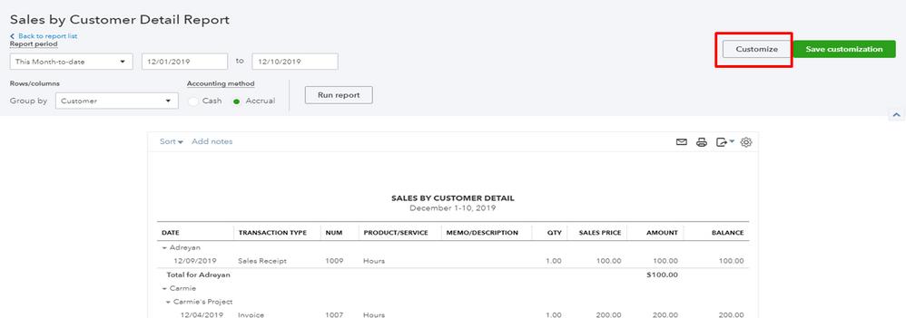 Capture customixe butoon report.PNG