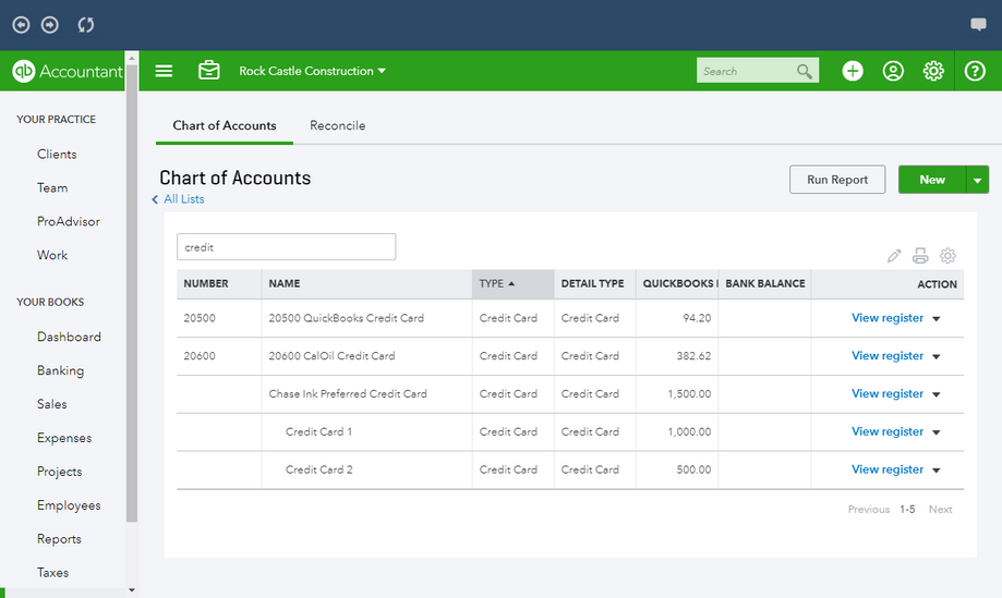 Trasnfer charts of accounts in Quickbooks