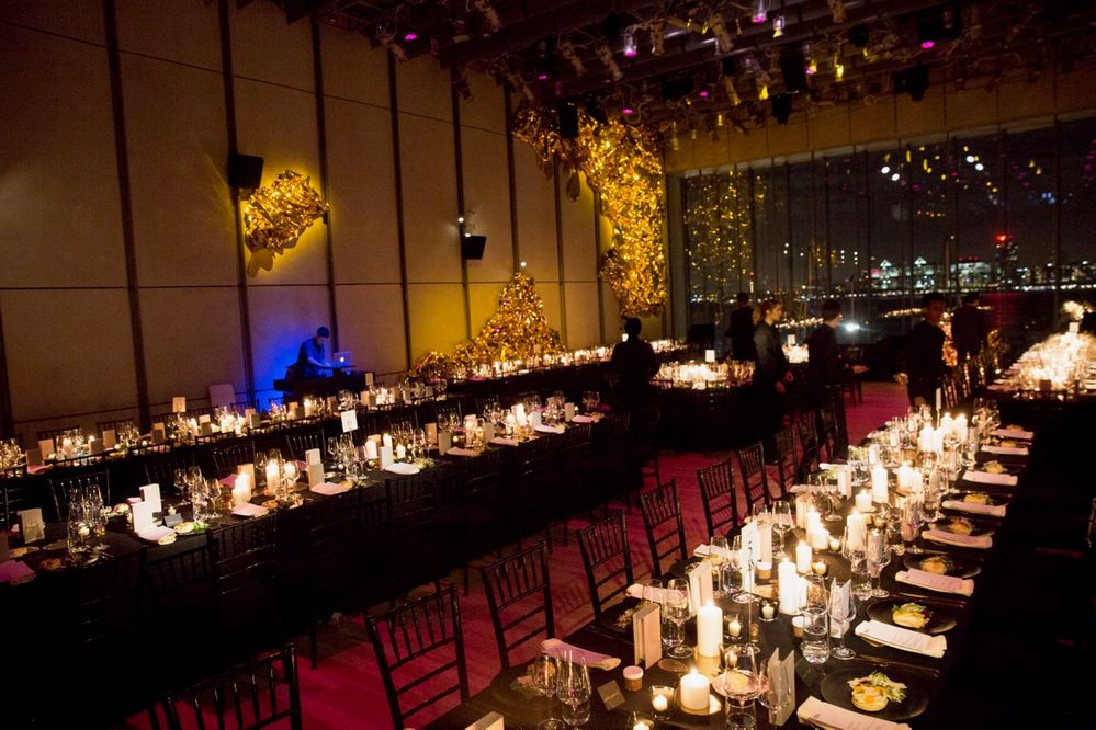 Setting up for a Whitney Art Museum party