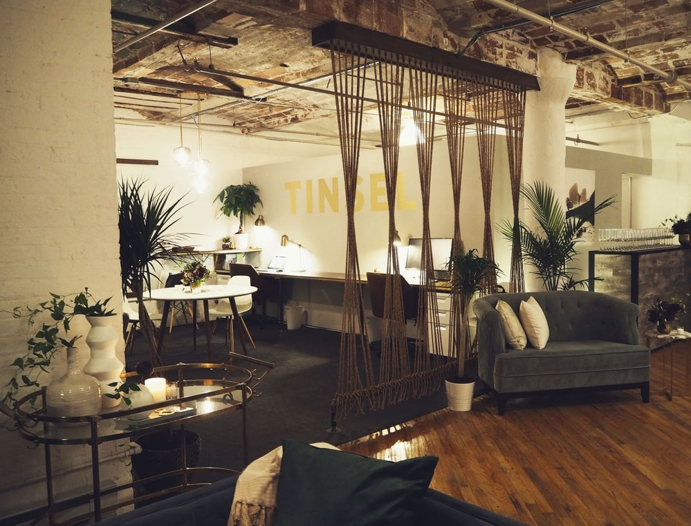 The TINSEL office in DUMBO Brooklyn, NY