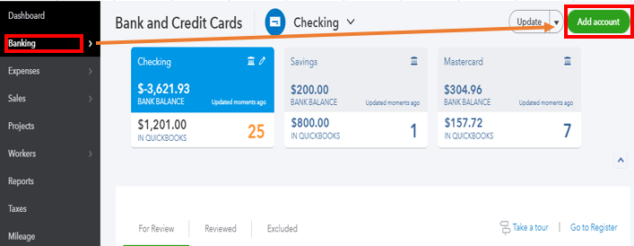 How to set up a credit line in Quickbooks Online and have it