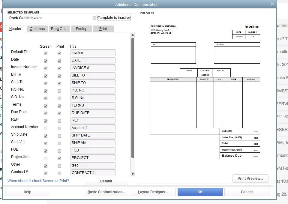 re add boxes to an invoice