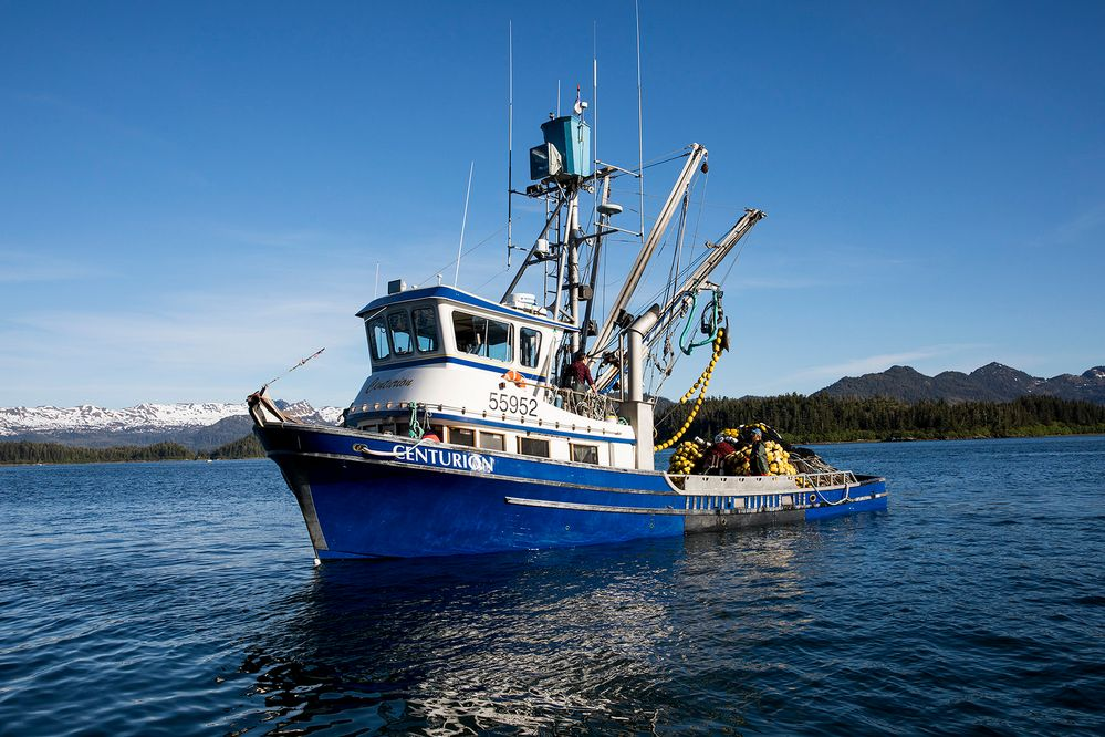 The F/V Centurion, Megan's 52-foot fishing vessel (photo by Bill Day)