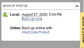 Quickbooks Automatic Backup not Running