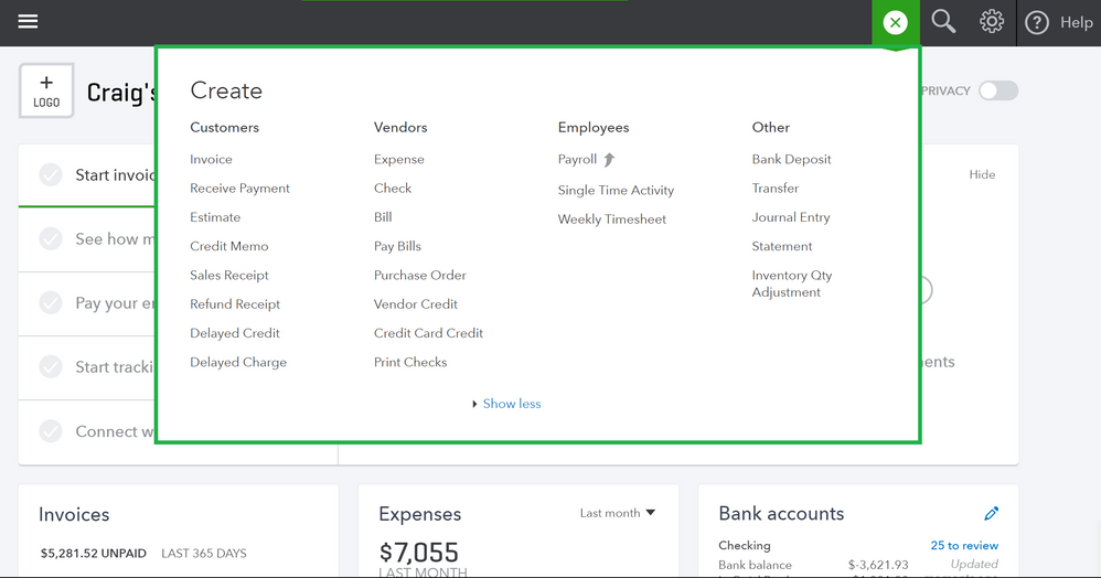 Setting up for Success in QuickBooks Online Navigation 4.PNG