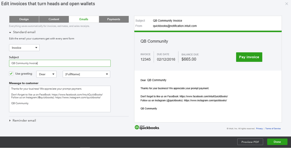 How to add social media links to invoices in QuickBooks Online 4.png