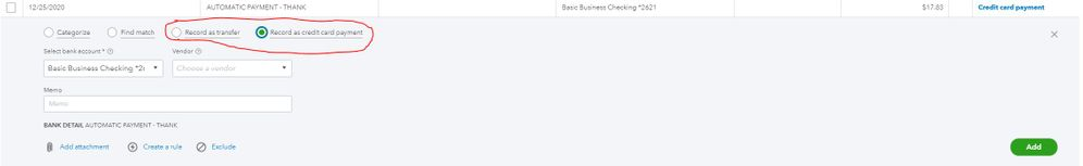 QBO record as credit card payment.JPG