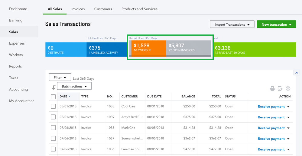 How to review open invoices in QuickBooks Online 3.png