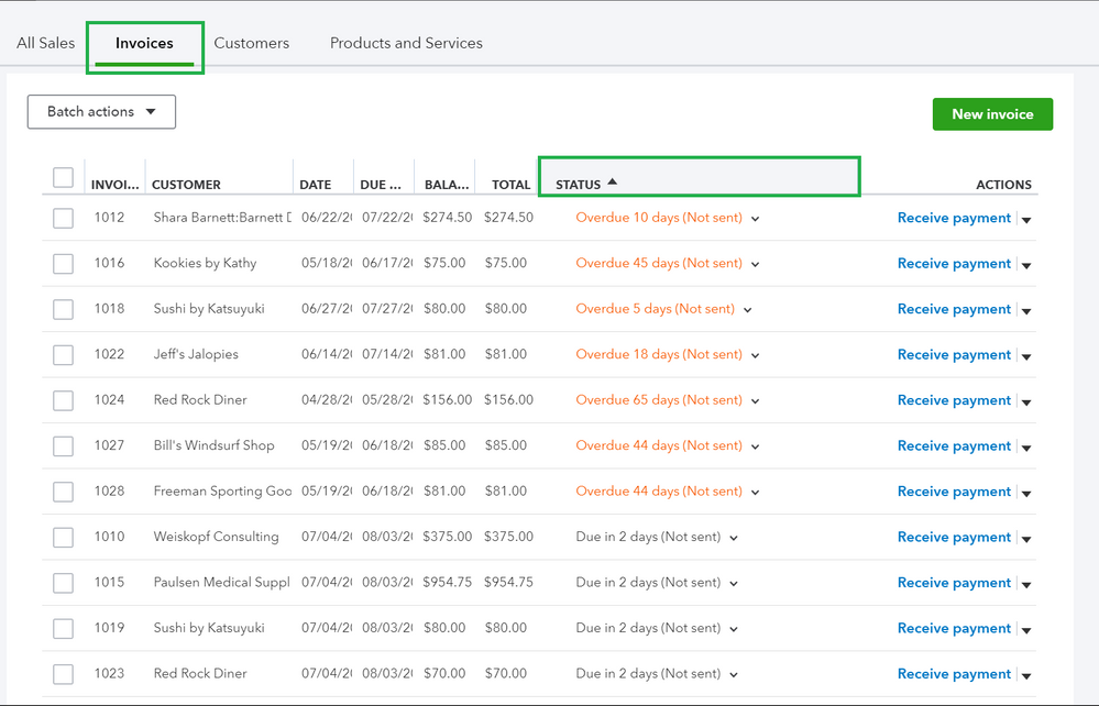How to review open invoices in QuickBooks Online.PNG