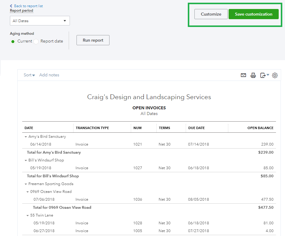 How to review open invoices in QuickBooks Online 5.PNG