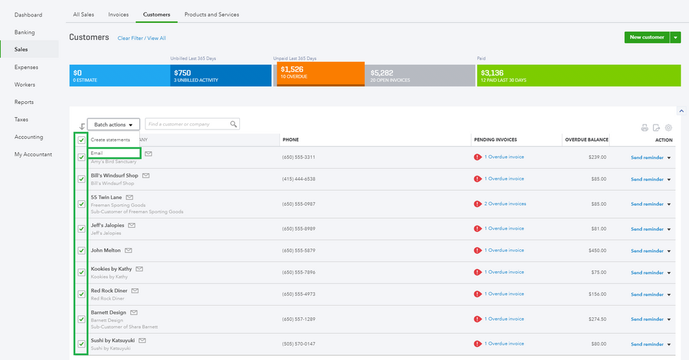 How to review open invoices in QuickBooks Online 7.png