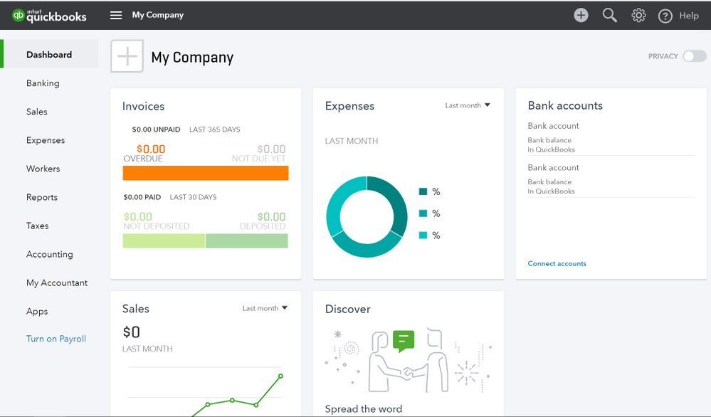QuickBooks Online blank company.PNG